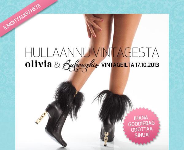 Hullaannu vintagesta! OLIVIAn ja Bukowskis marketin VIntageilta 17.10.2013